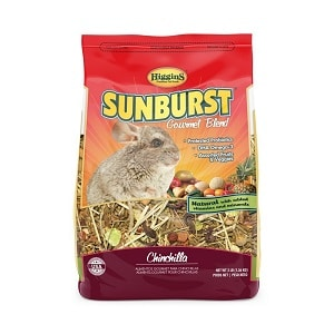 Higgins's sunburst top chinchilla food