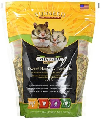 Vitakraft Vita Prima Sunscription Dwarf Hamster Diet Formula (tasty hamster food)